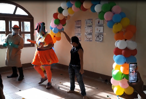 ZAP's spray operators in Guatemala are using songs and dance to promote acceptance of IRS.