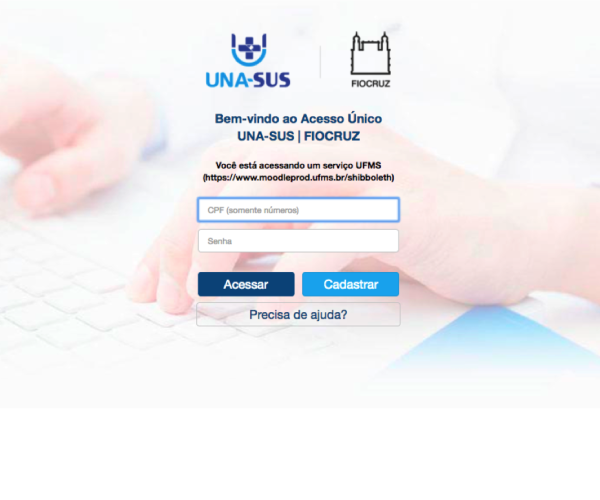 Sign-in page of the online course platform.