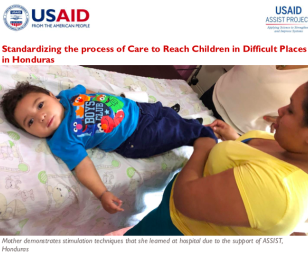 Standardizing the process of Care to Reach Children in Difficult Places in Honduras