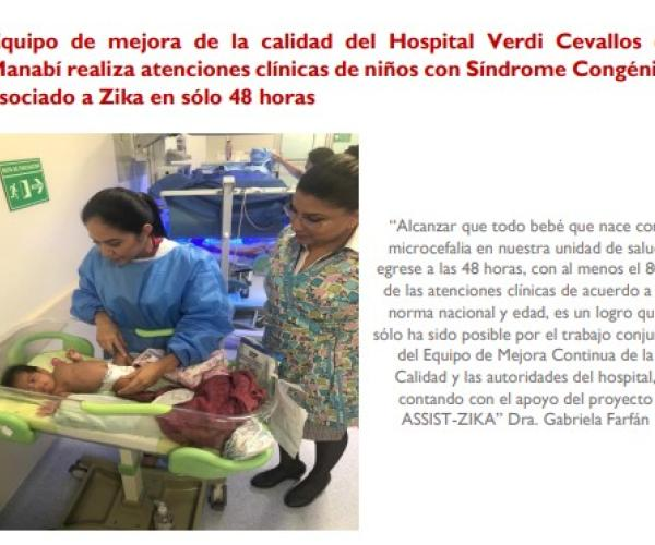 Quality improvement team at Verdi Hospital Cevallos de Manabí provides clinical care for children with congenital syndromes associated with Zika in only 48 hours