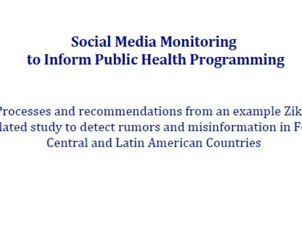 Social Media Monitoring to Inform Public Health Programming: Processes and recommendations from an example Zika-related study to detect rumors and misinformation in four Central and Latin American countries