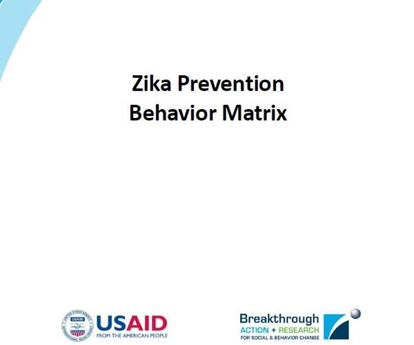Zika Prevention Behavior Matrix