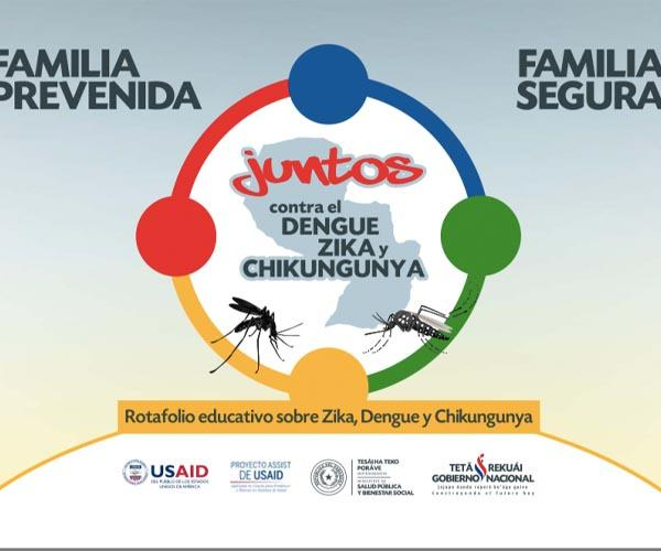 Educational flipchart about Zika, Dengue and Chikungunya