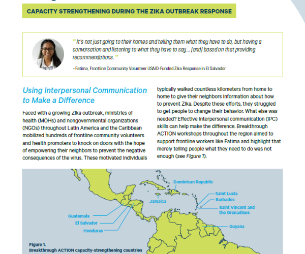 Empowering Communities to Fight Zika: Capacity Strengthening During the Zika Outbreak Response