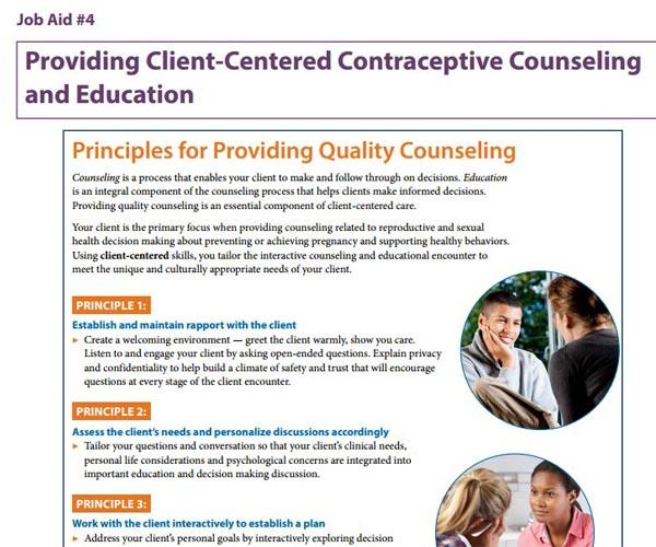 Providing Client-Centered Contraceptive Counseling and Education