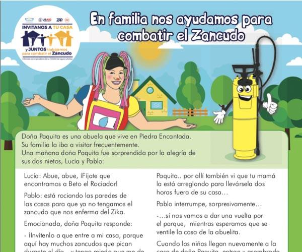 Promotion and participation of the school sector in spraying