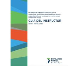 Cover page for Guía del Instructor