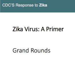 Cover slide for Zika Virus: A Primer for Nurses.