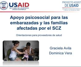 Psychosocial support for pregnant women and families affected by the SCZ