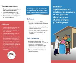 Regularly eliminating mosquito breeding sites is an effective practice against Zika, Dengue and Chikungunya