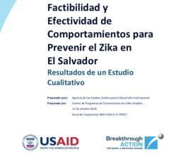 Feasibility and Effectiveness of Behaviors to Prevent Zika in El Salvador: Results of a Qualitative Study