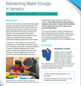Reinventing Water Storage in Jamaica: A Human-Centered Design Approach to Zika Prevention
