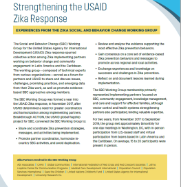 Strengthening the USAID Zika Response: Experiences from the Zika Social and Behavior Change Working Group